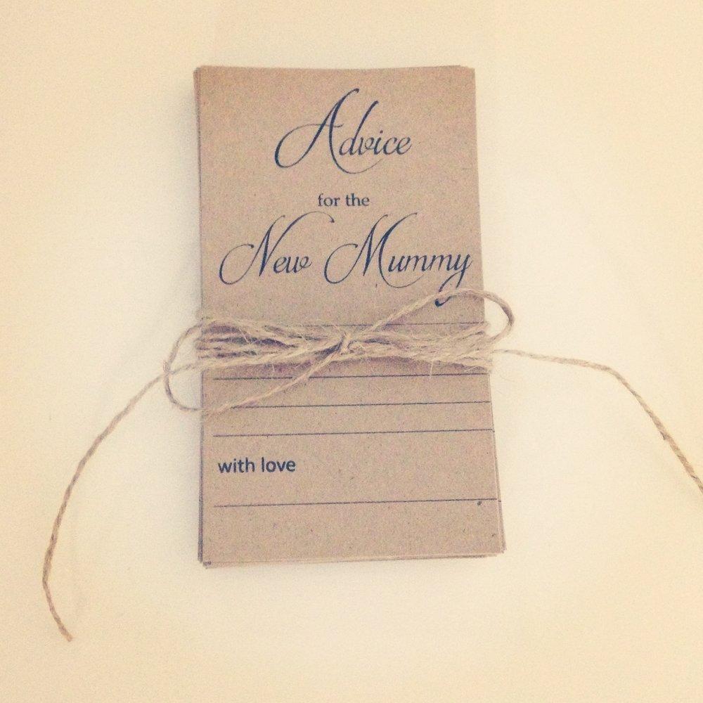New Mummy Advice Cards