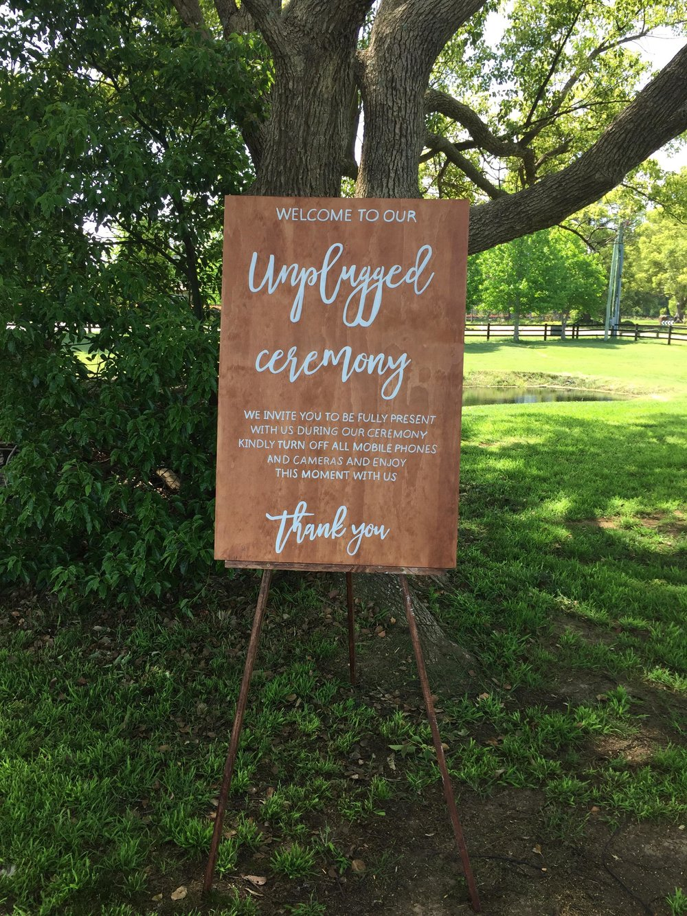 Unplugged Sign # $30