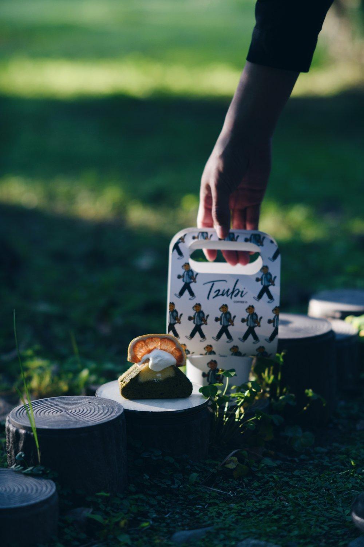 T Z U B I 𓆹 / Tzubi coffee  Take (me) away . 帶我到台灣吧! . /抹茶富士山磅蛋糕/ 外帶拿鐵/ .