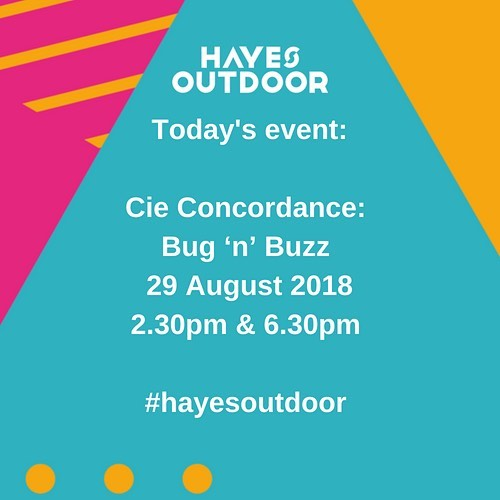 The clouds are parting, the rain has gone and we're looking forward to today's event:  Cie Concordance:  Bug 'n' Buzz  29 August 2018 2.30pm & 6.30pm  #hayesoutdoor #hayes #hillingdon #free #family #fun #whattodo #whatson #dance #outdoorarts #LDN #london #freeandcheap