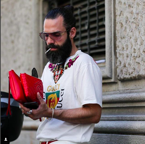Graziano di Cintio and his Gucci clutch