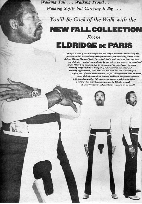 Eldridge Cleaver put this ad in the International Herald Tribune in 1975