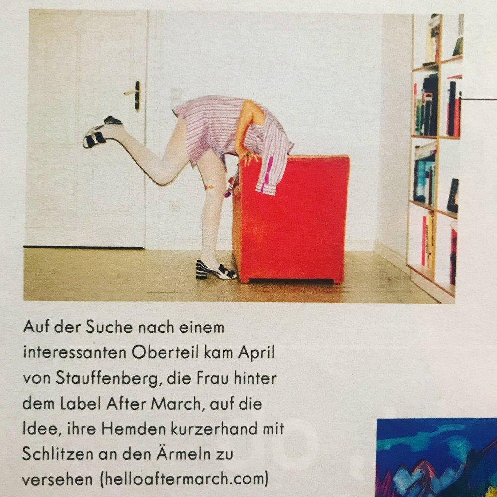 Thank you, ZEIT MAGAZINE!!! especially the Heiter bis Glücklich editor, Claire Beermann.
