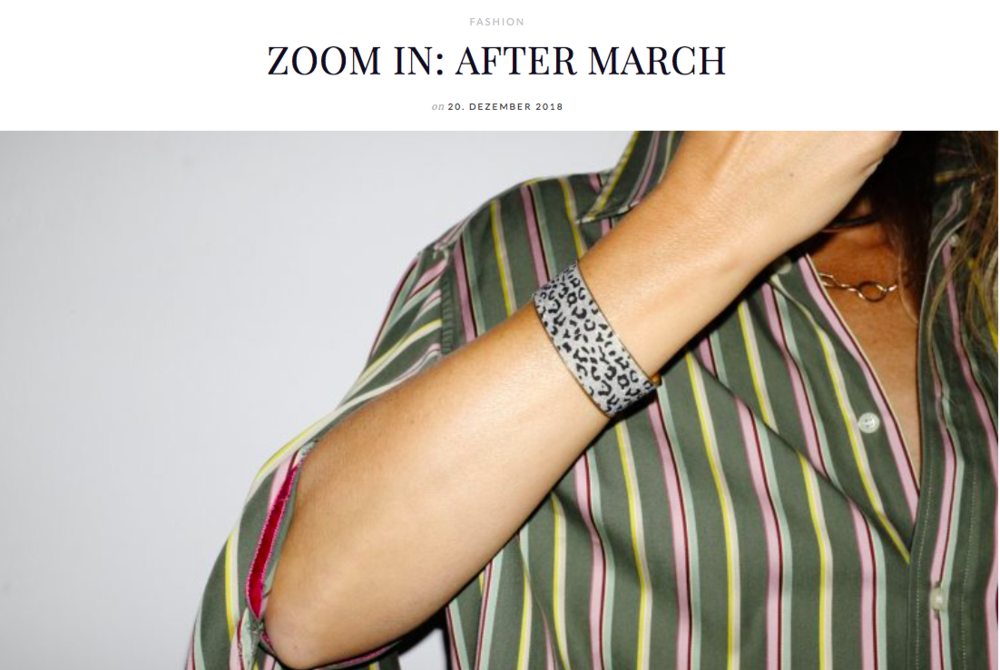 """featured in the """"Zoom In"""" section of the online magazine Less A Fair,  here"""