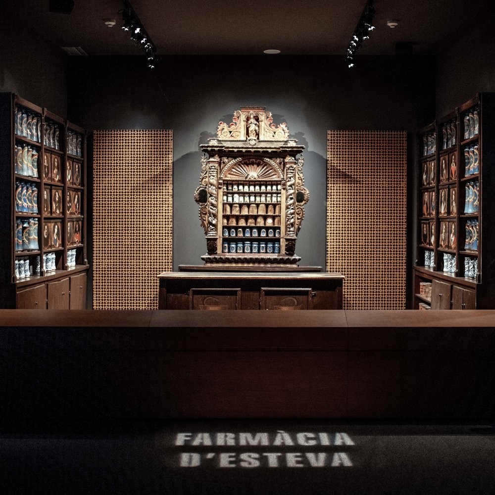Esteve Pharmacy  Dating back to Medieval times, the Llívia pharmacy is the oldest known pharmacy in Europe. Now a museum, it includes a library, laboratory equipment and the famous blue jars which used to contain pommades, unguents and other medicines.