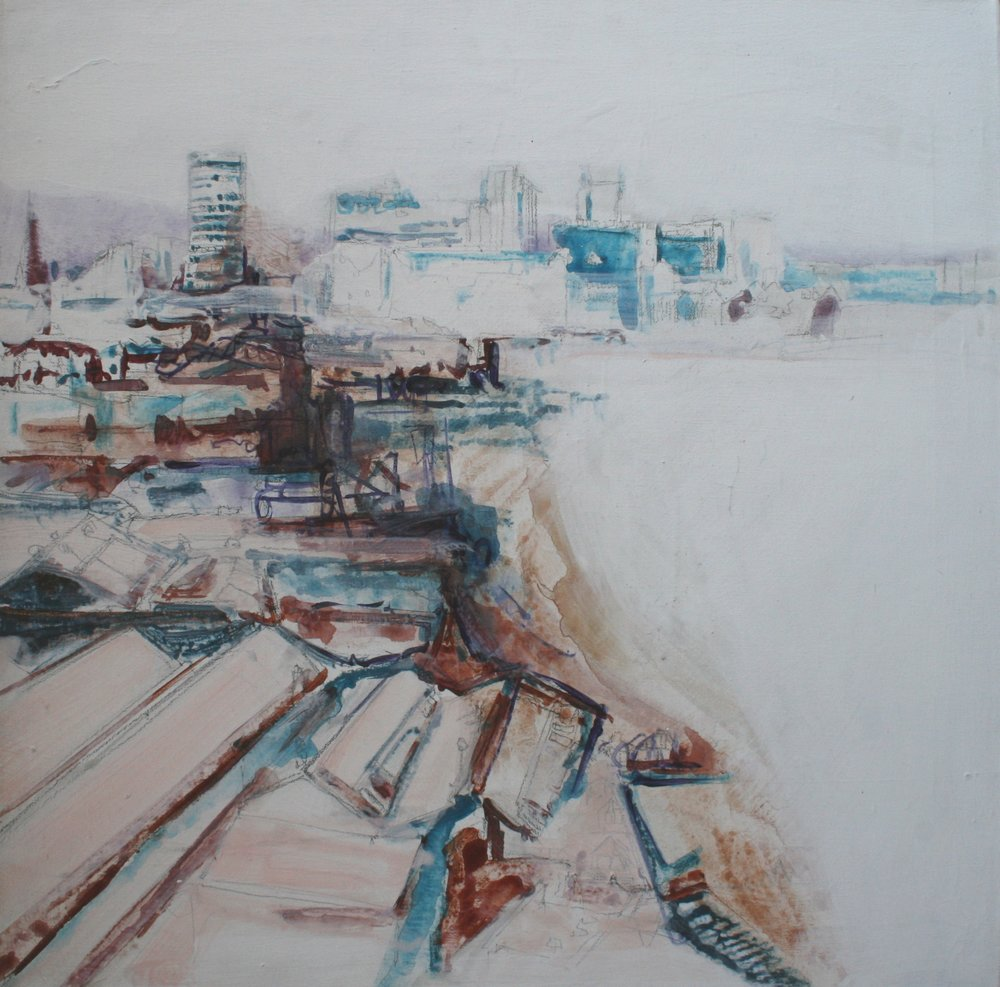 digbeth, acrylic on canvas, 61 x 61cm 2000