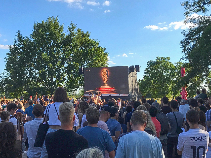 The World Cup, as seen from Berlin, Germany