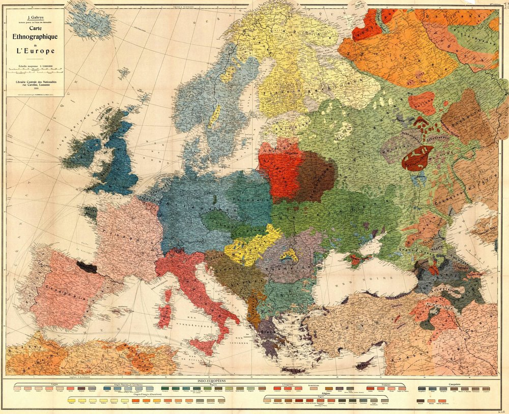 Europe - an ethnographic map