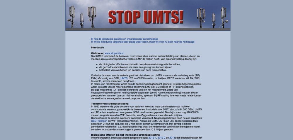 Stop UMTS