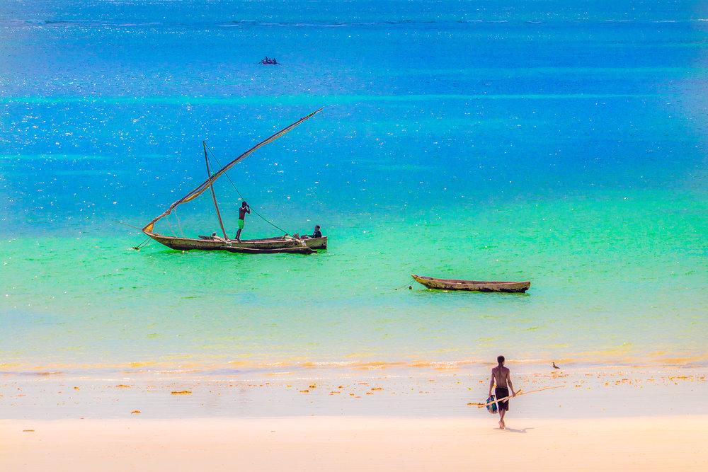 Fishermen - Diani Beach - Kenya