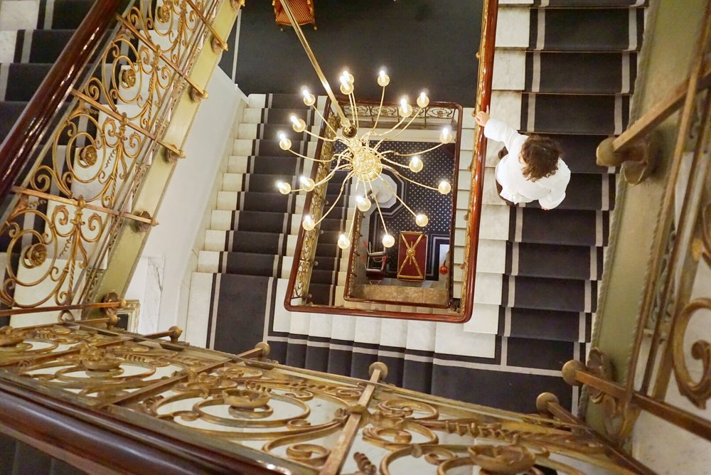 Gorgeous grand staircase throughout the whole hotel.