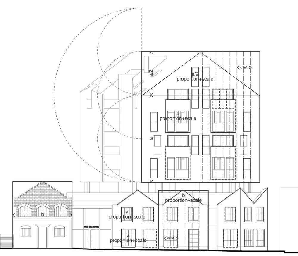 Street elevation diagram.