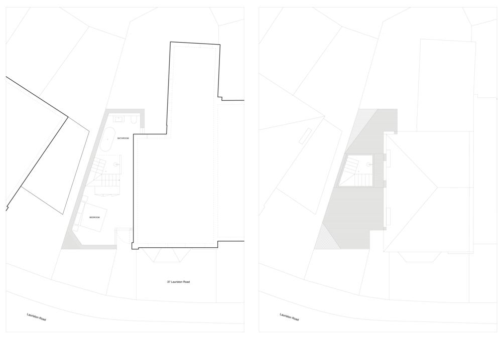 Second floor                                          Roof plan