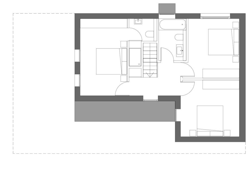 Typical first floor plan