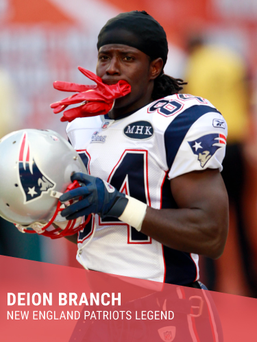 DEION BRANCH   Hometown: Albany, GA  College: Louisville  2x Super Bowl Champion & Super Bowl XXXIX MVP  Twitter:  @deionbranch84