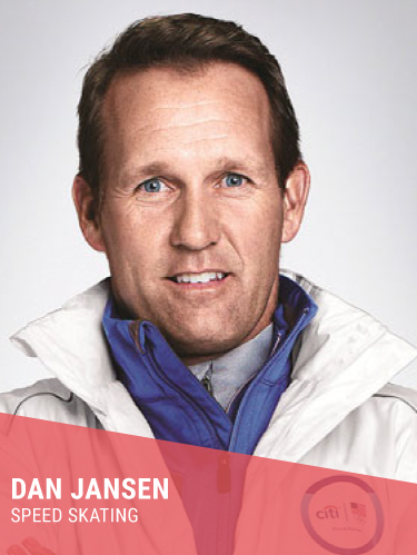 DAN JANSEN   Hometown: West Allis, WI  Olympic Hall of Fame & Gold Medalist  Instagram:  @danjansen1994   Twitter:  @danjansen94