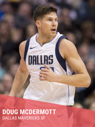 DOUG MCDERMOTT   Hometown: Grand Forks, ND  College: Creighton  First Round Draft Pick  Instagram:  @dougmcd03   Twitter:  @dougmcdermott   Facebook:  @DougMcD25