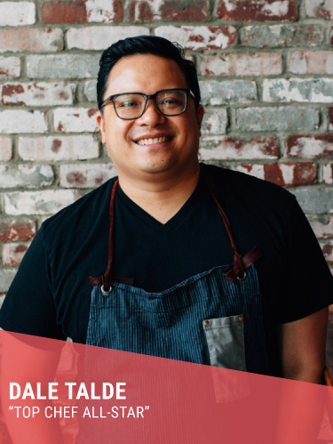 DALE TALDE   Resides in: New York, NY  Restaurants: Talde (Brooklyn), Massoni/The Heights, Rice and Gold/The Crown (NYC), Talde (Jersey City), Caps Beer Garden, Little Purse (Newark Airport), Talde (Miami)  Instagram:  @daletalde   Twitter:  @daletalde   Facebook:  @ChefDaleTalde