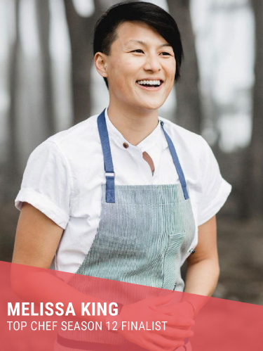 MELISSA KING   Resides in: San Francisco, CA  First Chef Ambassador for Whole Foods Market  Instagram:  @chefmelissaking   Twitter:  @chefmelissaking   Facebook:  @chefmelissaking