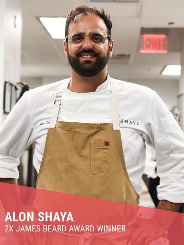 ALON SHAYA   Resides In: New Orleans, LA  Restaurants: Saba (New Orleans) & Safta (Denver)  Instagram:  @alonshaya   Twitter:  @alonshaya   Facebook:  @alon.shaya