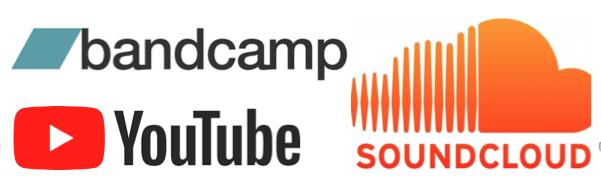 Plataformas para fazer upload de músicas (Soundcloud ou BandCamp) do seu jogo :)