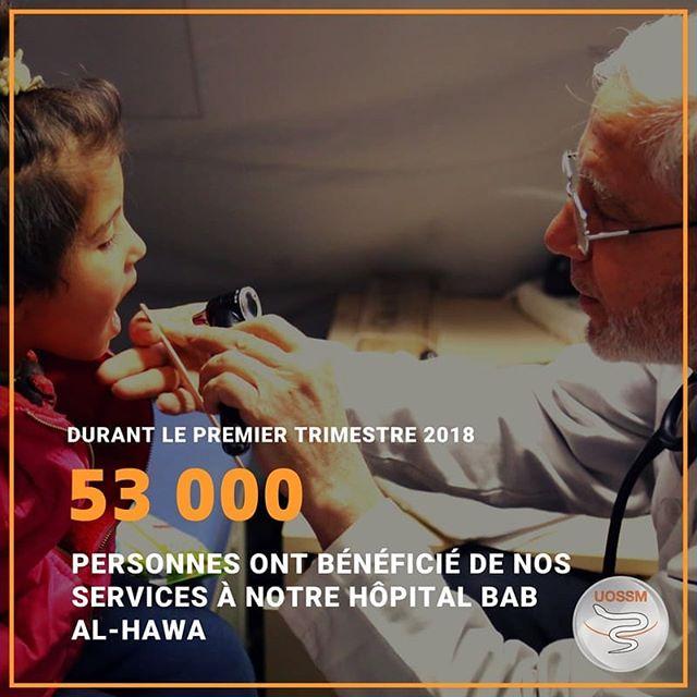 [#VosDonsNosActions] Vos dons font la différence ❤ MERCI ! 🙏 . #UOSSM #Syrie #sante