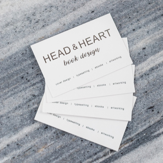Business Cards - Business card design for book design company Head & Heart