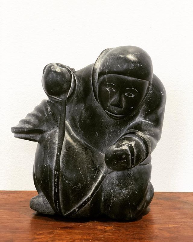 Unique find of the day ✨ Inuit Eskimo Stone Carving . . . #antique #uniquefinds #stone #carving #statue #freeportmaine #newengland #winterweather #stonecold #naturalresources #vintage #goneantiquing #rethinkantique