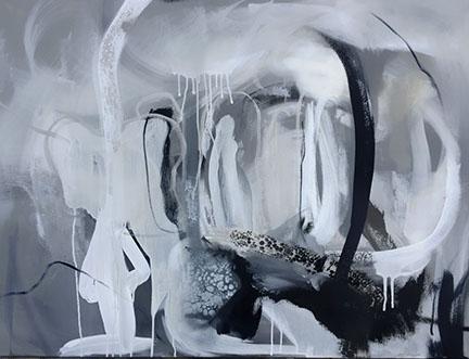 Cobalt, Acrylic on Canvas 30x40 in.