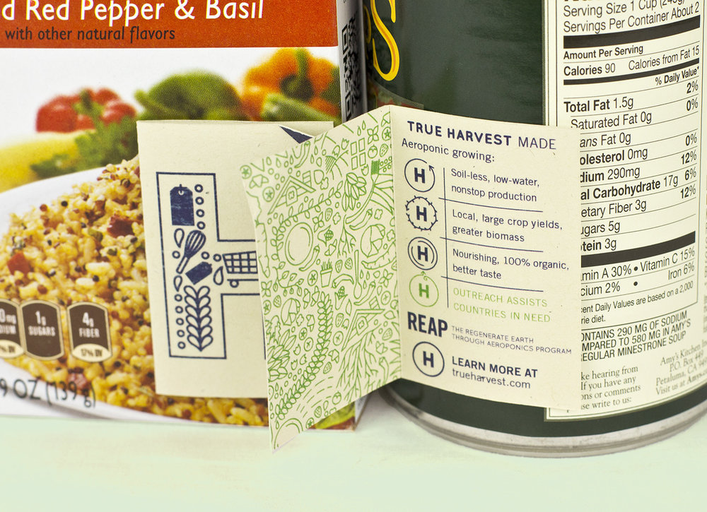 True Harvest Market tag designs for canned food