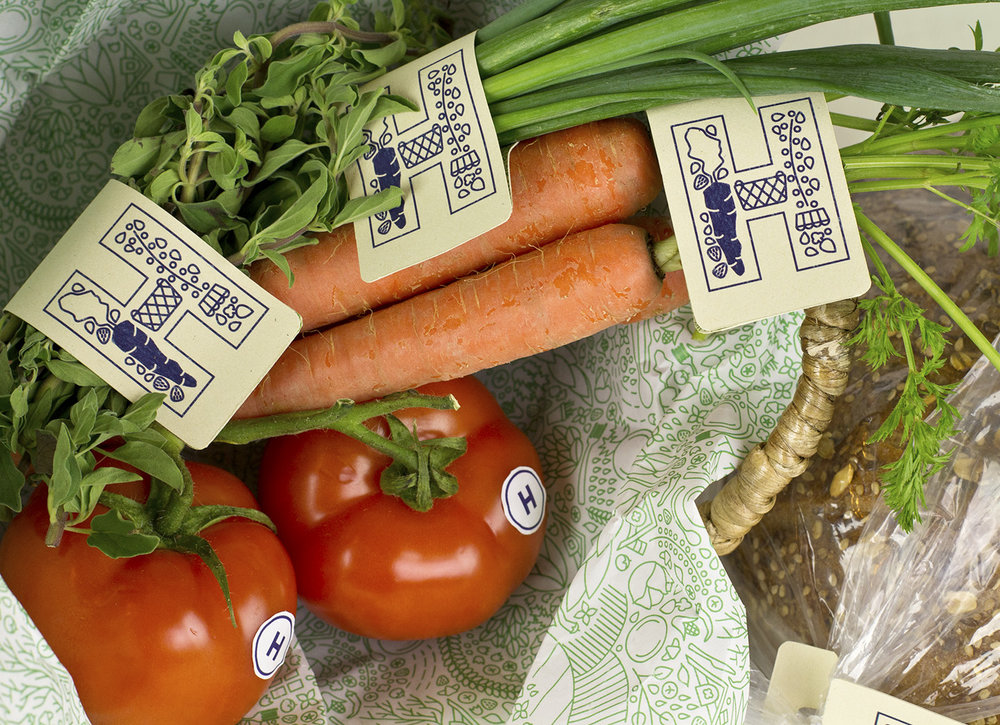 True Harvest Market tag designs and pattern design