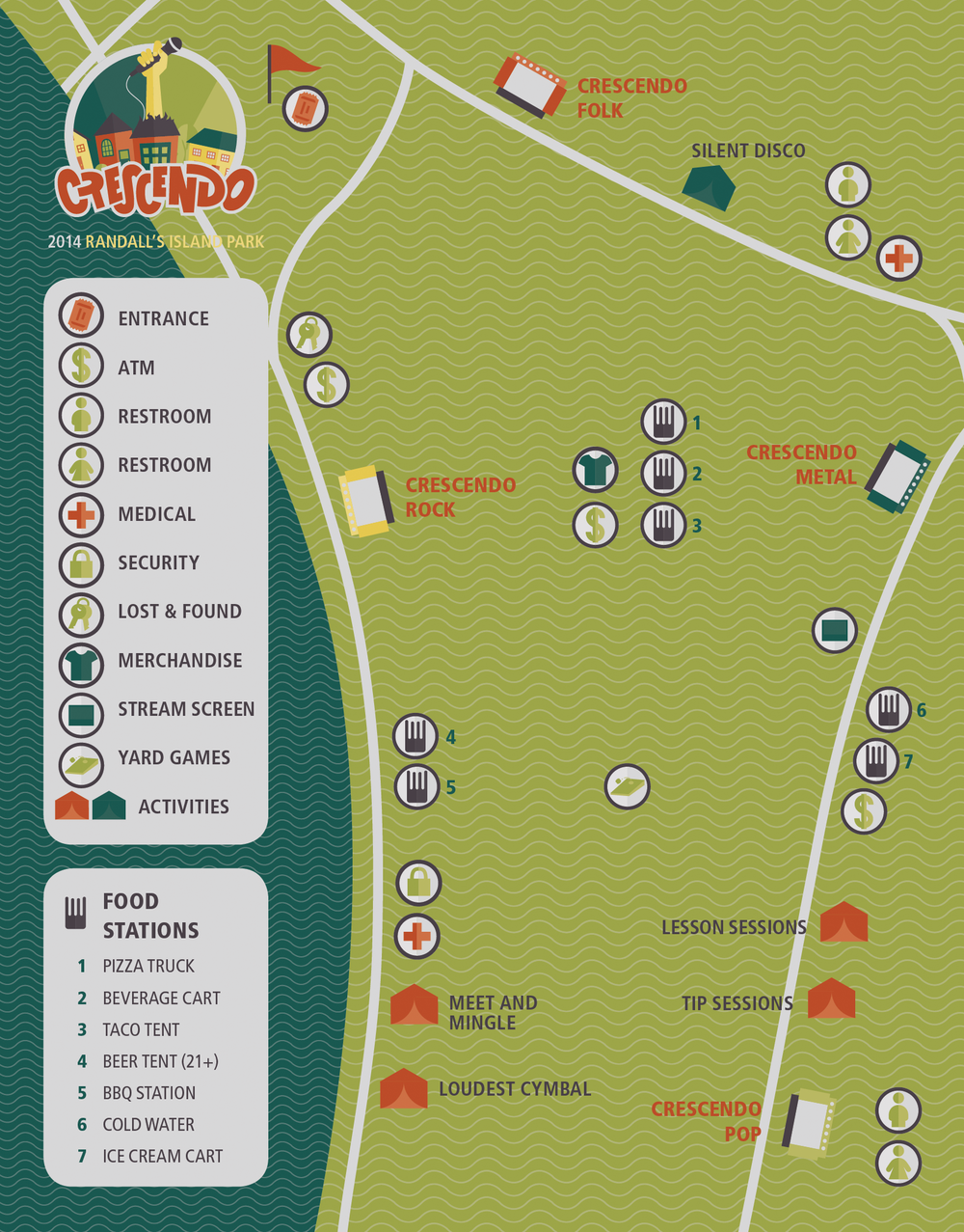 New York festival map