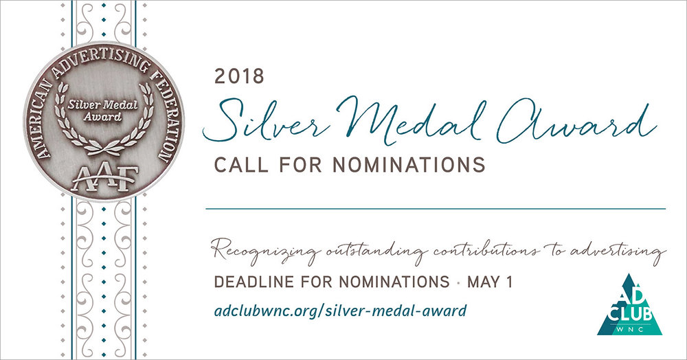 Promotional banner for the 2018 Silver Medal Awards