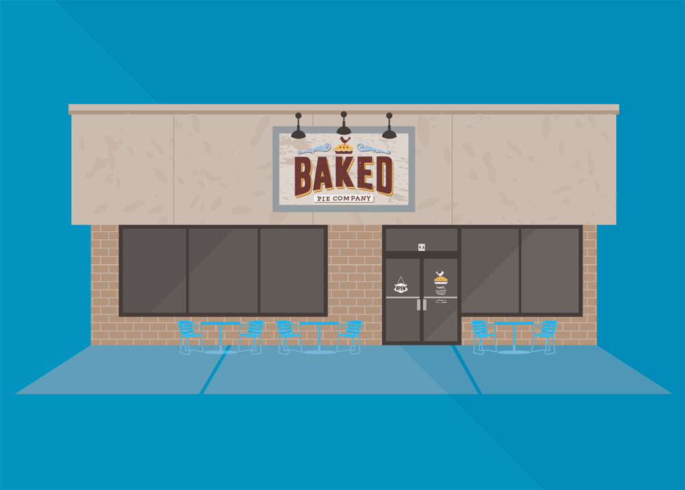 Baked Pie Company, Long Shoals Road, Asheville