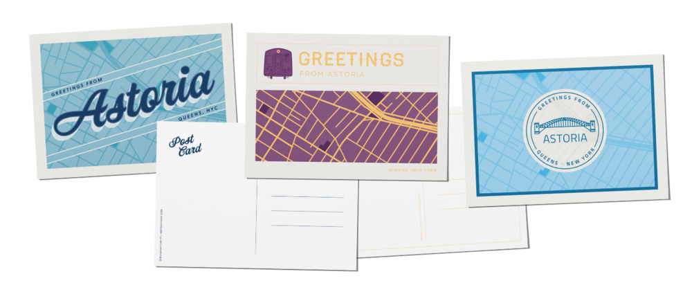 Astoria, Queens, map postcards