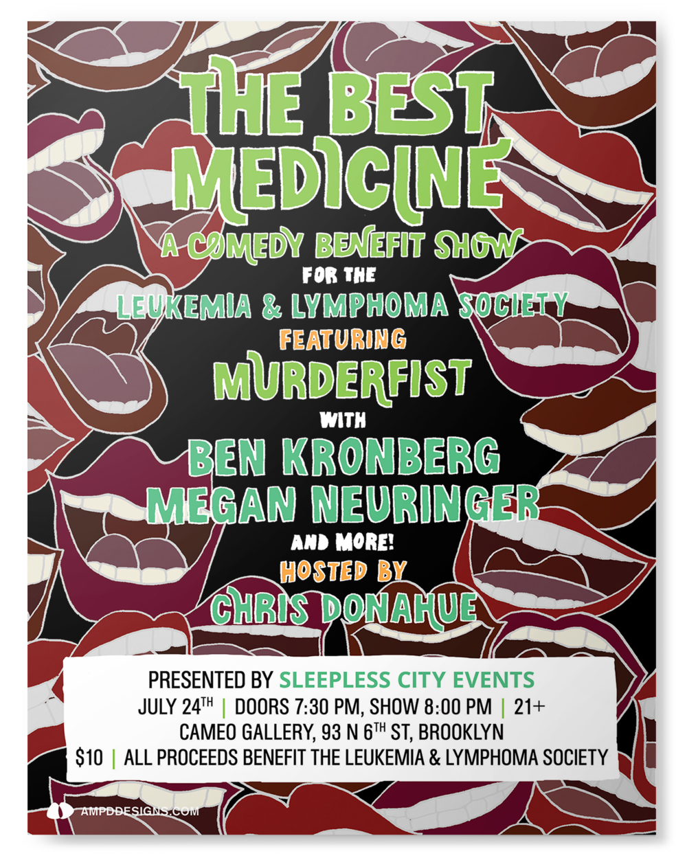 The Best Medicine, a comedy benefit show, in Brooklyn