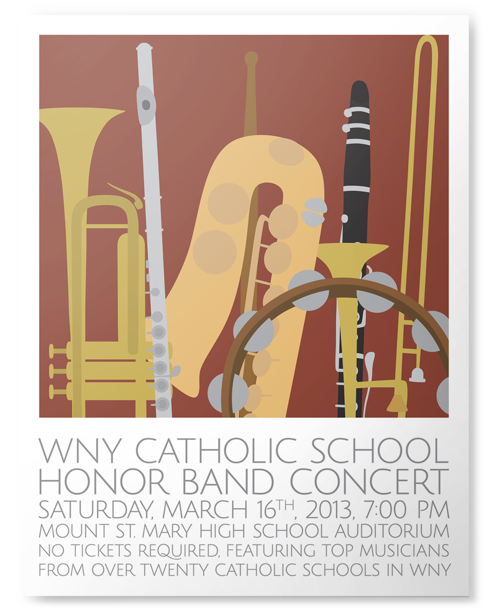 The WNY Catholic School Honor Band in Buffalo