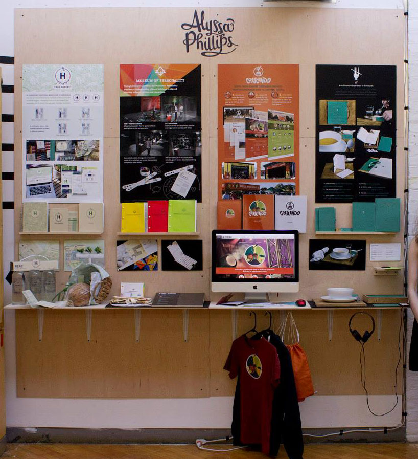 In my college senior show I displayed 4 large-scale branding projects, with a goal of going on to work on brand-identity design.