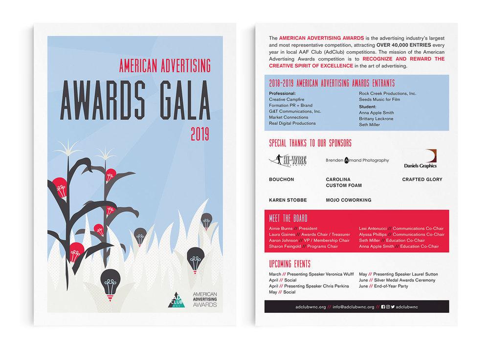 2019 Awards Gala program