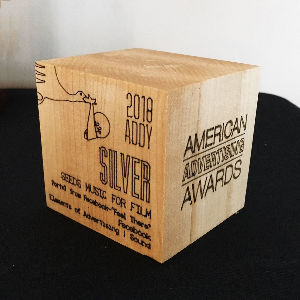 2019 Gala Silver Award, laser etched into wooden block
