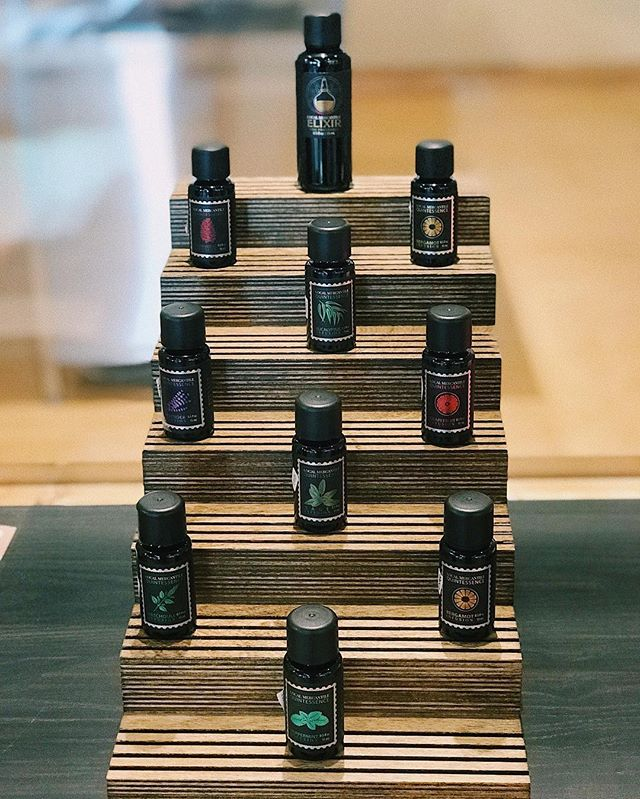 Our essential oil blends are the perfect combination of sultry and sweet. Come in and smell them for yourself! • • • • • #thoughtfullycrafted #localmercantile #essentialoils #oilblends #wickfordvillage #rhodeisland