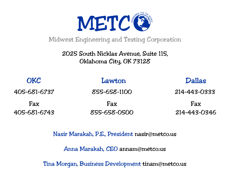 Contact information for METCO