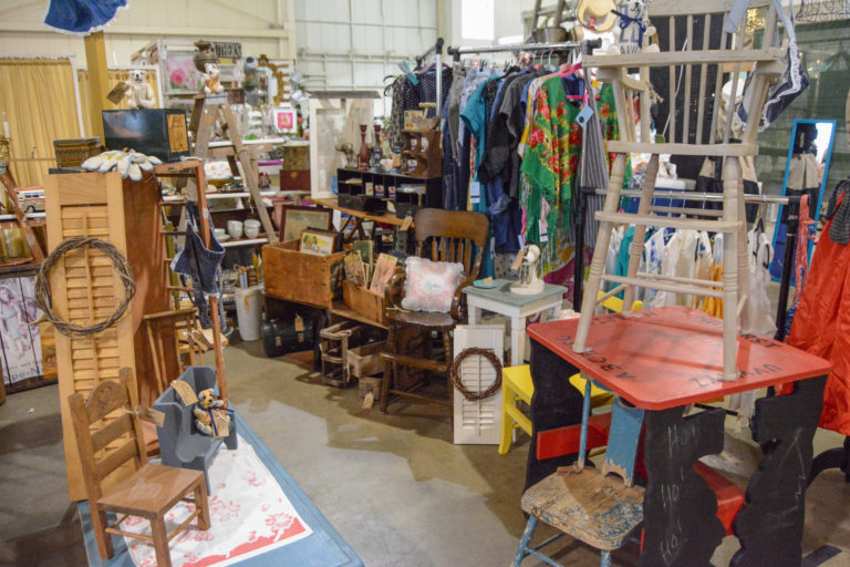 Booth full of cool junk at the Southern Junkers Vintage Market