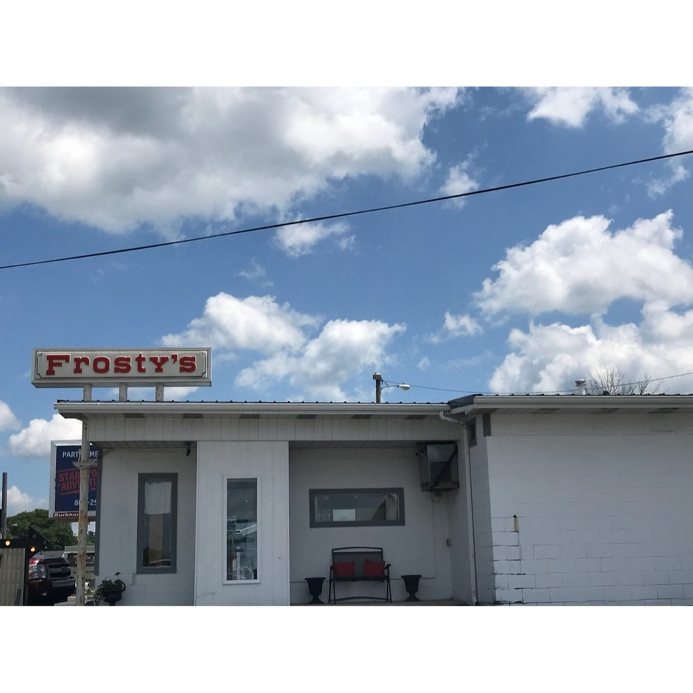 Frosty's is a family friendly restaurant and ice cream shop in Montpelier.   *CASH ONLY*  Hours: Monday - Saturday 11:00 AM - 10:00 PM, Sunday 12:00 PM - 10:00 PM  Location: 629 W Huntington Street, Montpelier IN 47359  Phone: (765) 728-2257