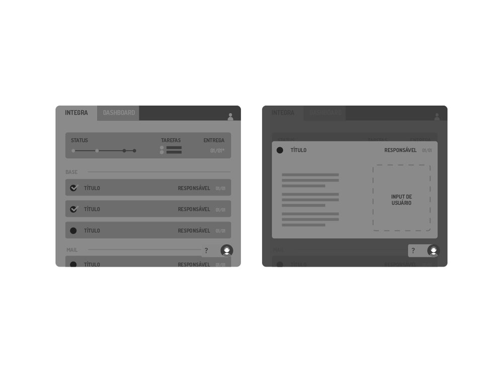 Main pages as first conceived for the user flow