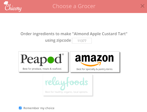 Chicory Grocery Integrations