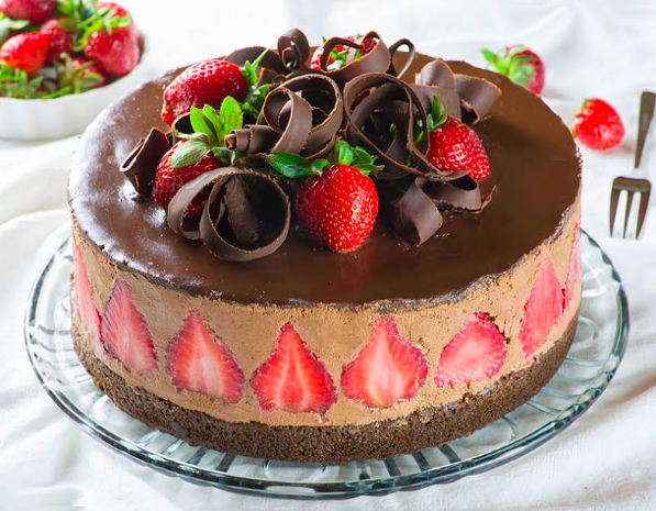 Strawberry Chocolate Cake - OMG Chocolate Desserts