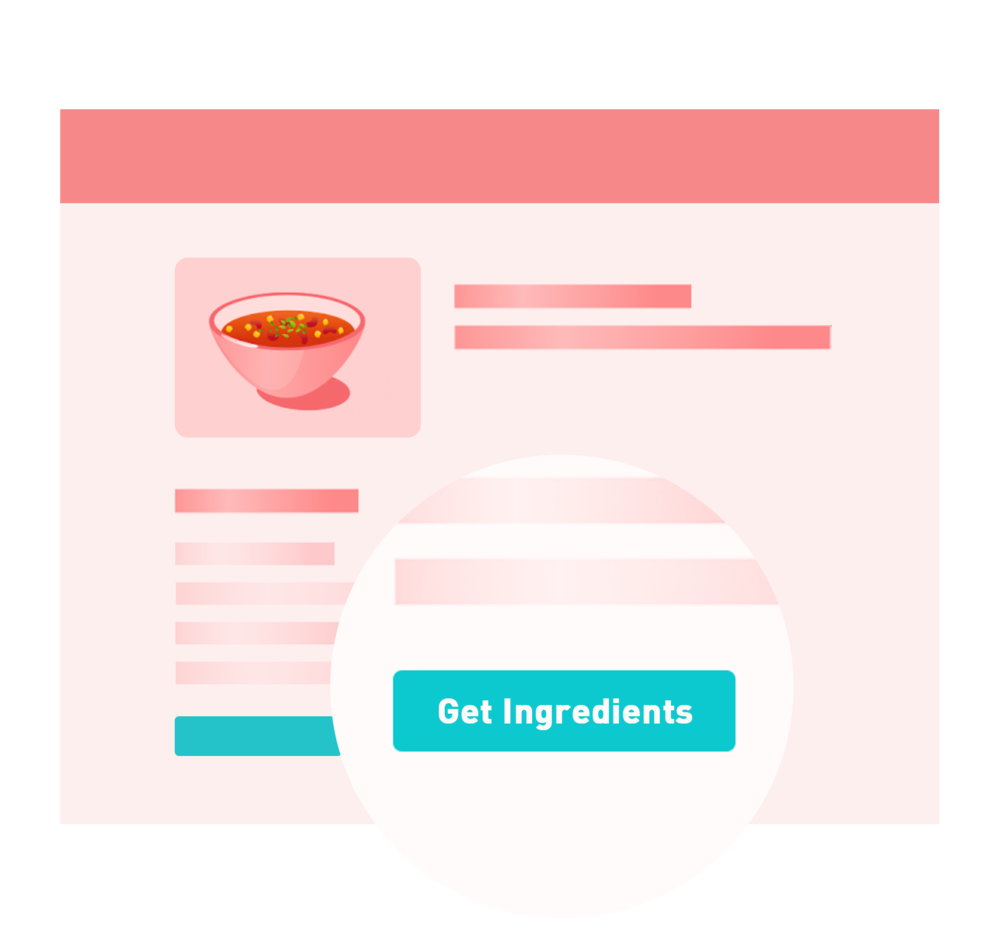 Chicory Publishers - In-Recipe Get Ingredients Button