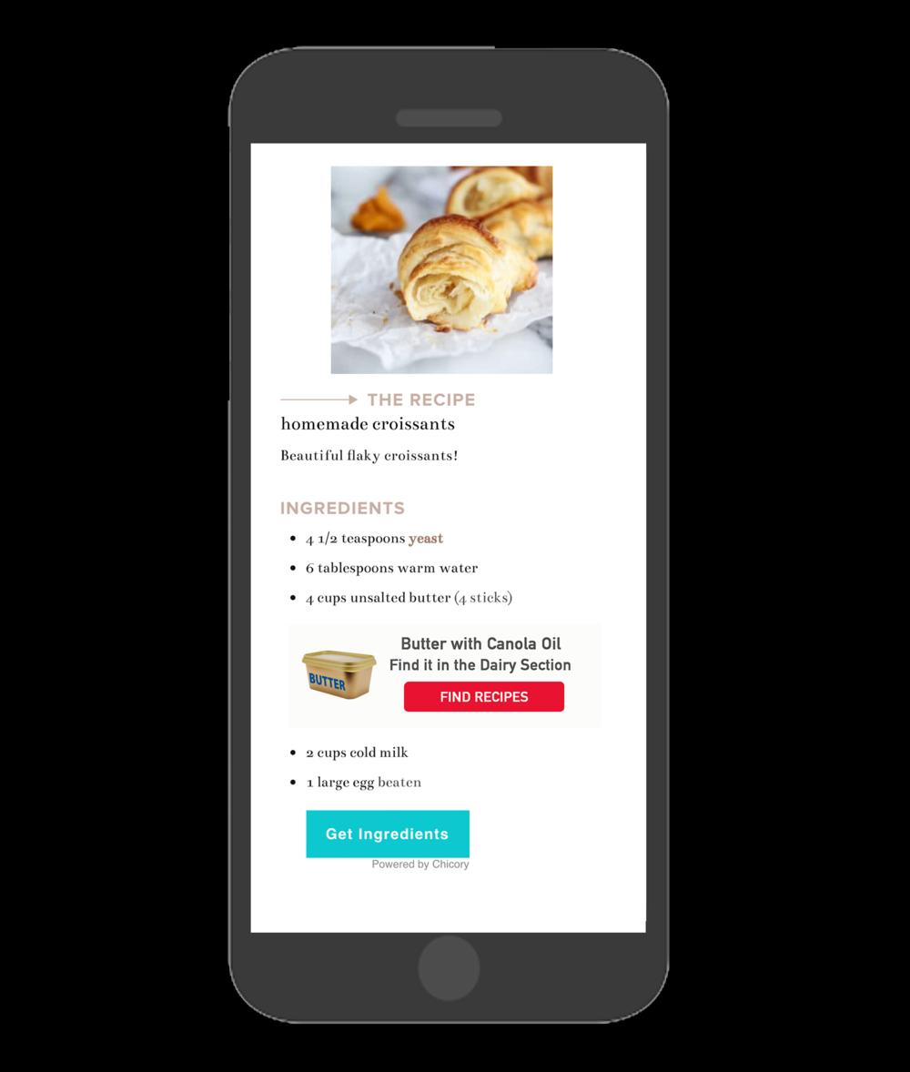 Butter Chicory Premium In-Line Ad