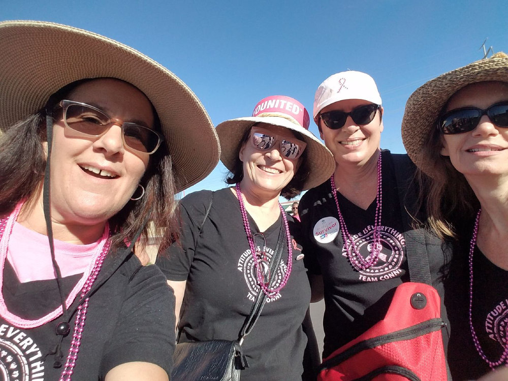 Conni recently participated in her first 5K walk to support breast cancer with her friends, Esther Miller, Jan Hart and Linda Oliphant.  Image Courtesy of Conni Colella-Ersland